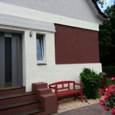 Der Fassadenentwurf ist umgesetzt