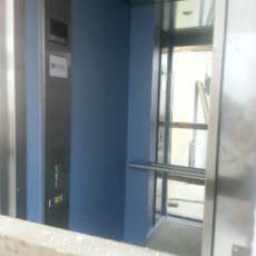 Und ein erster Blick in die Fahrstuhlkabine!