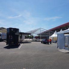 Aufbau zum 70.jährigen Firmenjubiläum in Hamm