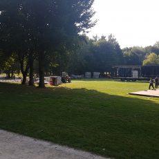 Heute war der erste Aufbautag für Dortmund Ole